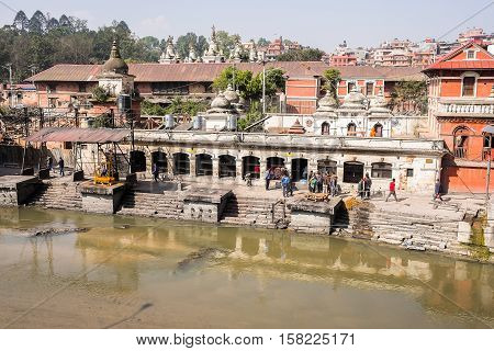 Pashupatinath Temple and the Burning Ghats in Kathmandu, Nepal