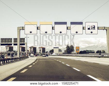 Vintage Looking Motorway