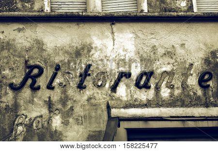 Vintage Looking Grunge Ruins