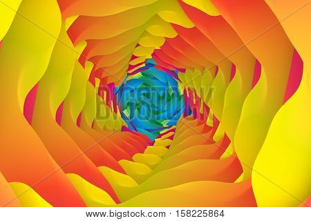 abstract colorful twist wave background 3d illustration