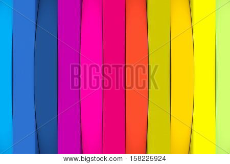 abstract colorful wheel line background 3d illustration