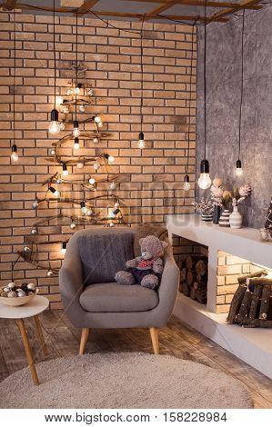 Contemporary Interior Of Living Room.