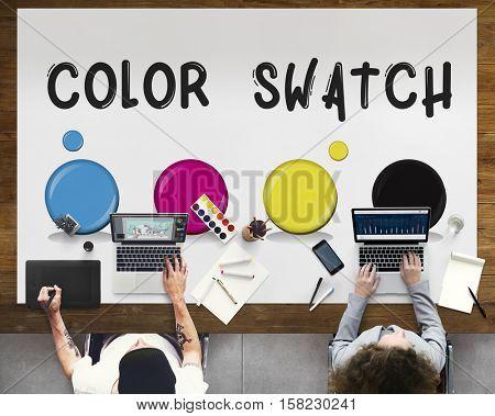 Color Swatch Design Style Concept