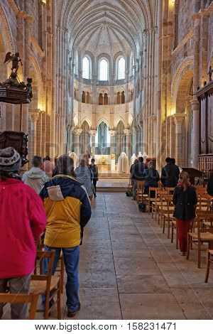Altar Of Vezelay Abbey In Bourgogne Franche Comte In France