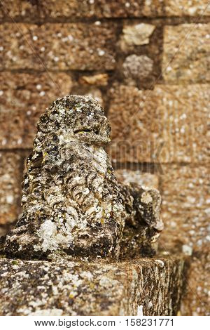 Animal Stone Figure At Mont Saint Michel In Normandy France