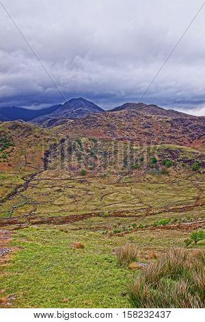 Beautiful Chain Of Mountains Of National Park Snowdonia