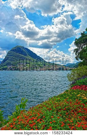 Botanical Garden At Promenade In Lugano Ticino Switzerland