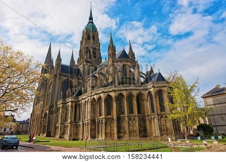 Cathedral Of Our Lady Of Bayeux Calvados Normandy France