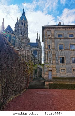 Cathedral Of Our Lady Of Bayeux Calvados Normandy In France