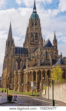 Cathedral Of Our Lady Of Bayeux In Calvados Normandy France