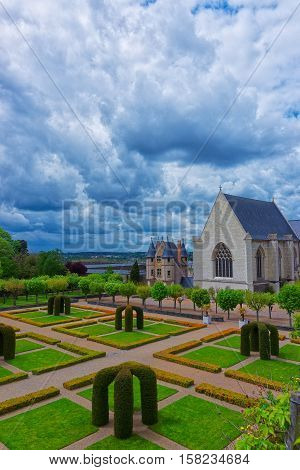 Chapel Of Chateau Angers In Loire Valley France