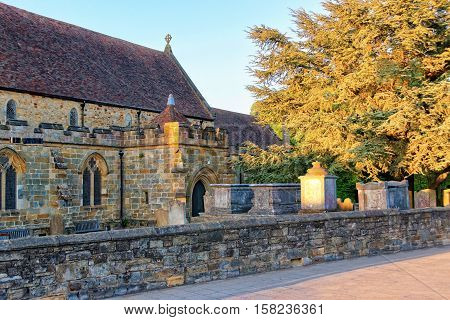Church And Cemetery In Battle In East Sussex In Uk