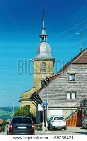 Church In Yverdon Of Jura Nord Vaudois Vaud Switzerland