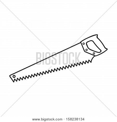 Hand saw icon in  style isolated on white background. Sawmill and timber symbol vector illustration.