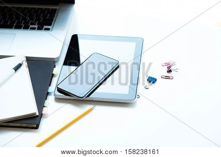 Working Table And Technology Tool.