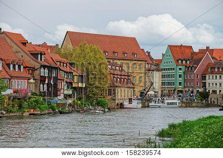 Fishermen Houses Over Regnitz River In Little Venice Bamberg