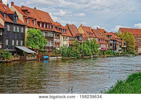 Fishermen Houses Over Regnitz River Of Little Venice Bamberg