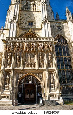 Fragment Of Canterbury Cathedral In Canterbury Kent Uk