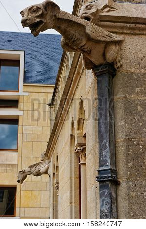 Gargoyle At Amiens Cathedral Of Notre Dame In Picardy France