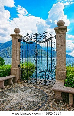 Gate At Promenade In Lugano In Ticino In Switzerland