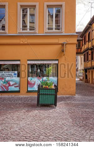 Grand Rue Street Of Colmar In Alsace