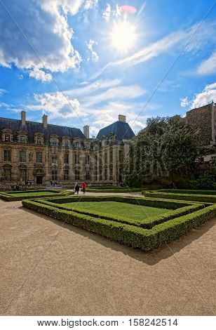 Hotel De Sully And Beautiful Garden In Paris