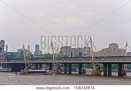 Hungerford Bridge In London In Uk