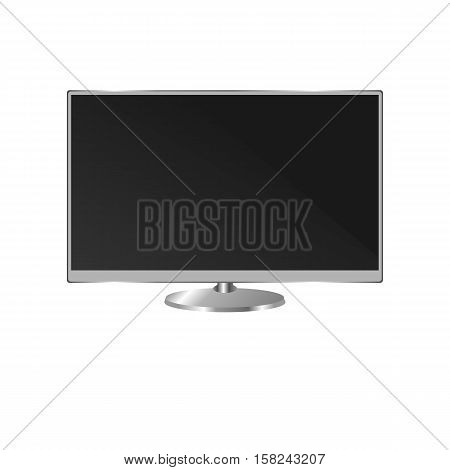 Flat-screen Tv, A Plasma Tv. A Blank Monitor Isolated On White Background.