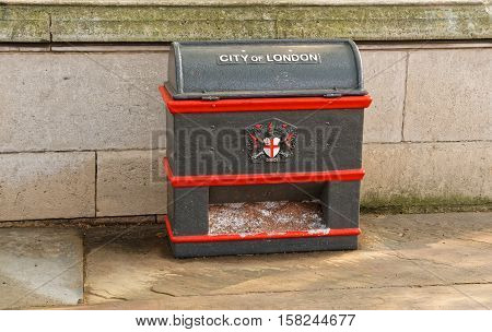 Litter Bin In The City Of London England