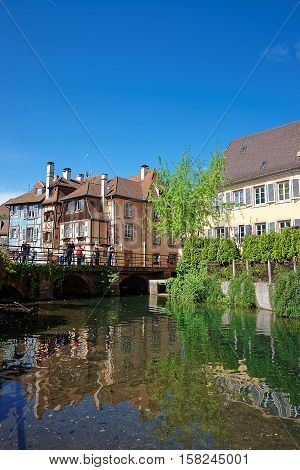 Little Venice Quarter In Colmar At Alsace In France