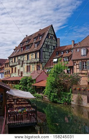 Little Venice Quarter In Colmar Of Alsace Of France