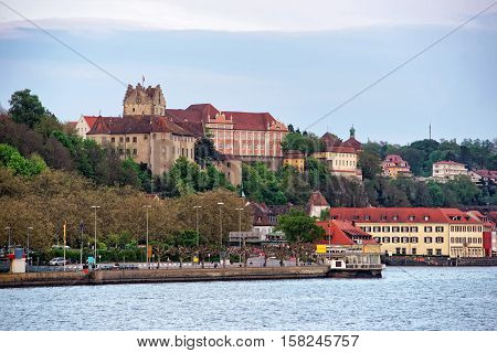 Meersburg Castle And Old Town On Lake Constance