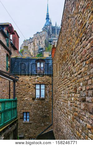 Mont Saint Michel In Normandy Of Manche France