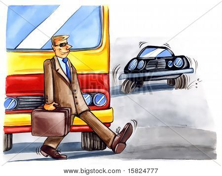 Reckless Man On The Street