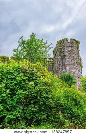 Old Castle In Brecon At Brecon Beacons