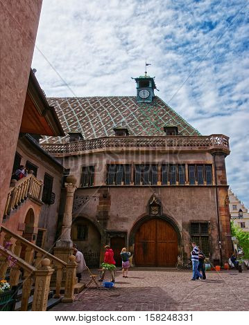 Old Custom House In Colmar In Alsace Of France