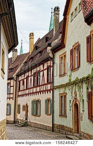 Old Houses In Bamberg City Center In Germany