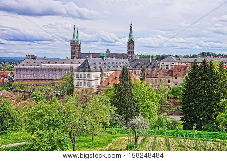 Old Palace And Bamberg Cathedral In City Center Bavaria