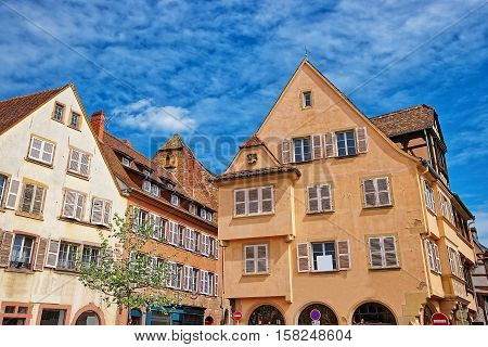 Old Town In Colmar In Alsace Of France