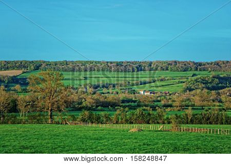 Panorama Of Vezelay In Bourgogne Franche Comte Region In France