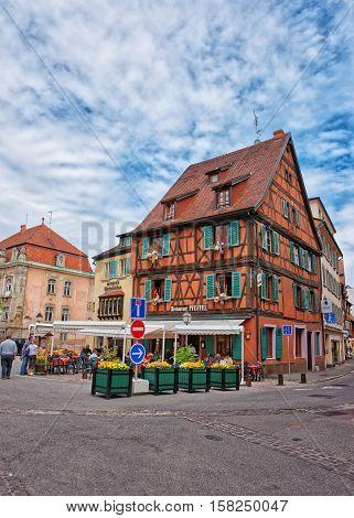 Pfeffel Restaurant In Colmar In Alsace France