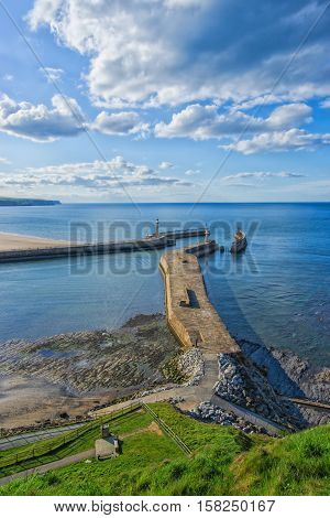 Pier In North Sea In Whitby In North Yorkshire Uk