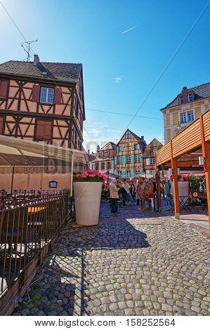 Rue De Turenne In Colmar In Alsace France