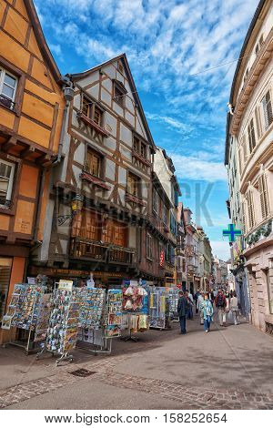 Rue Des Serruriers In Colmar In Alsace In France