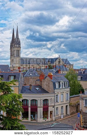 Saint Maurice Cathedral Of Angers In Loire Valley In France