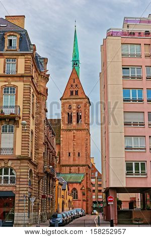 Saint Peter Church In Strasbourg In France
