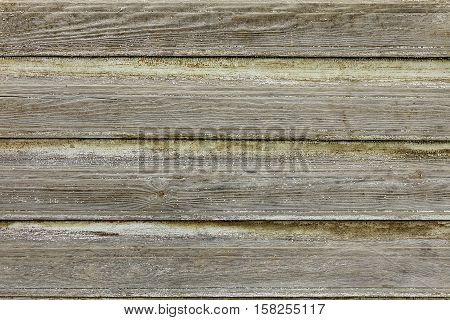 Gray Wooden Wall Planking Texture. Horizontal Dark Grey Wood Background