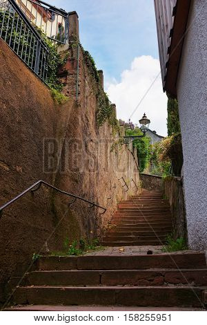 Staircase At Tight Street In Baden Baden Germany