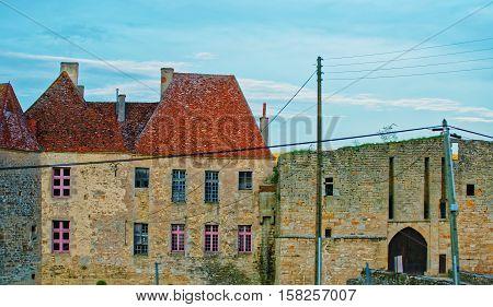 Street Of Avallon In Bourgogne Franche Comte Region In France