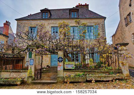 Street Of Vezelay In Bourgogne Franche Comte Region In France